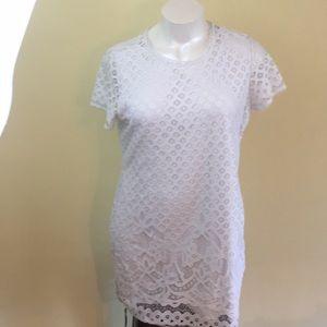 Isaac Mizrahi Live white lace dress. Size xl